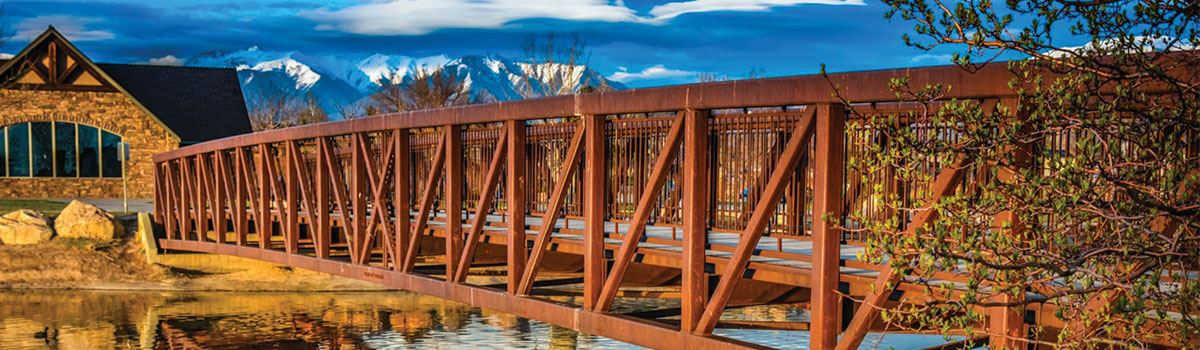Jensen Park Wooden Bridge