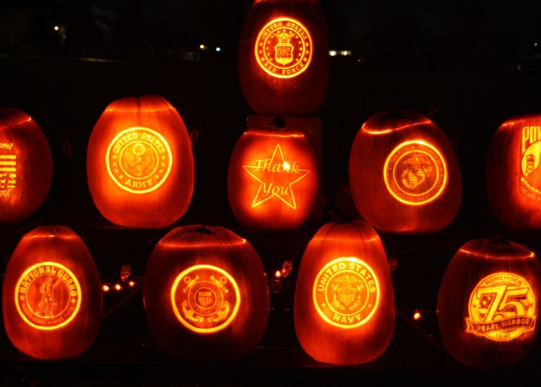 Pumpkin Walk - Military Pumpkins